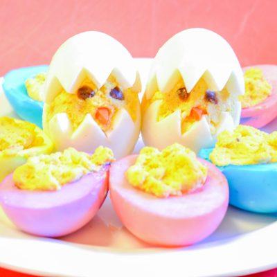 Easter Themed Deviled Eggs