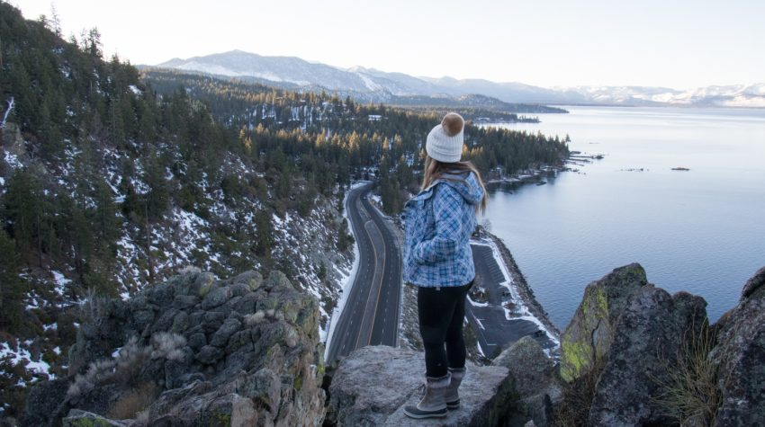 Cave Rock | Lake Tahoe | Heading to Lake Tahoe? Check out this list of the most instagrammable places in Lake Tahoe! | Catherine Chicotka