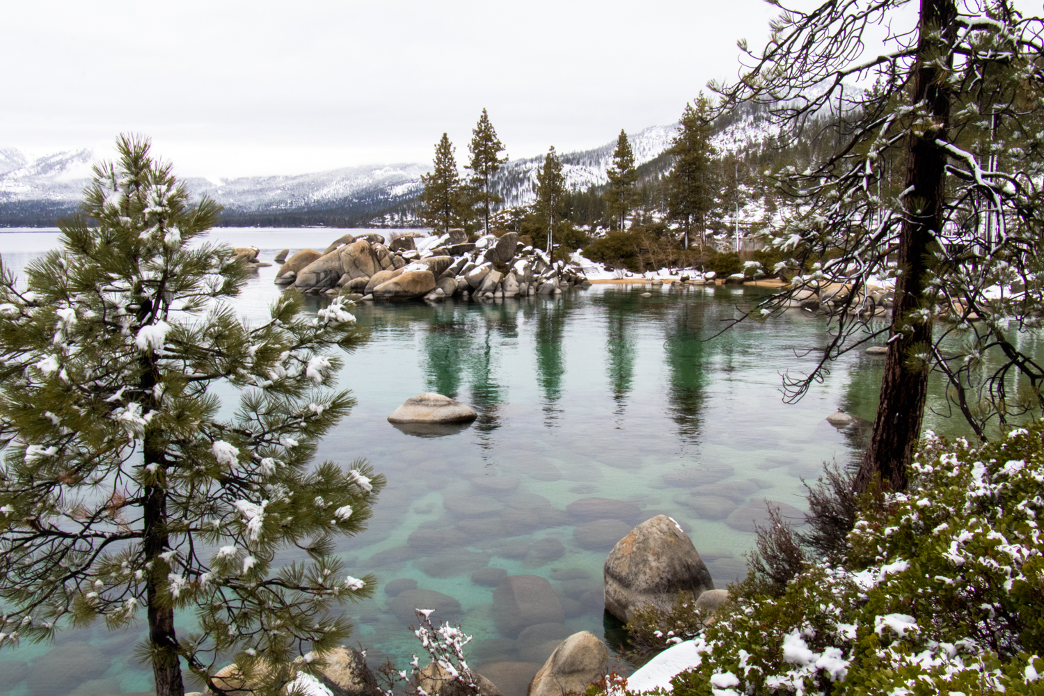 Sand Harbor | Lake Tahoe | Snowy Weekend in Lake Tahoe | Catherine Chicotka